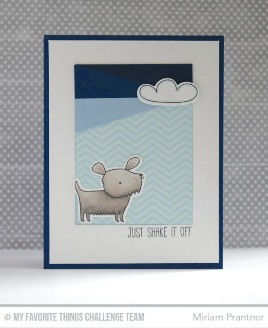 Shake it Off Card by Miriam Prantner featuring the Top Dog stamp set and Die-namics #mftstamps