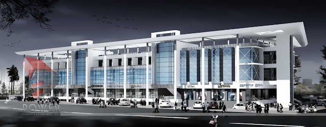 3d Architectural Mall Design,3d architectural exterior view of mall