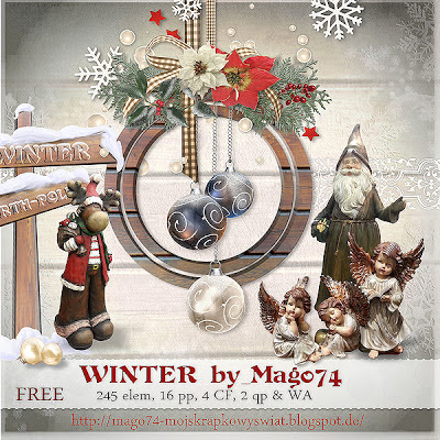 "Free scrapbook kit ""Winter"" by mago 74"