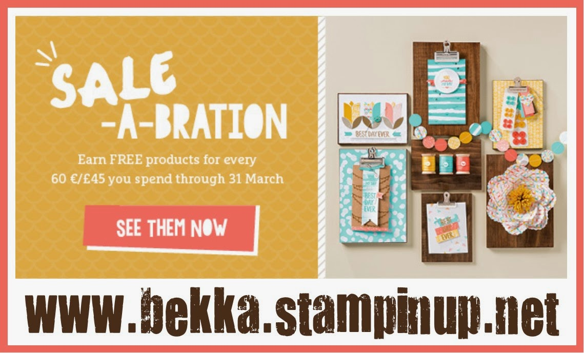 Get your Stampin' Up! UK Sale-a-Bration Freebies here until 31 March 2015