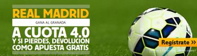 betfair Real Madrid gana Granada cuota 4 liga 1 noviembre