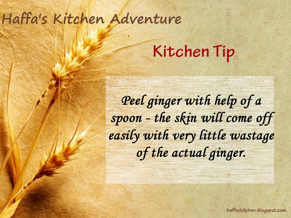 How to peel ginger easily?|Kitchen tips| Tips & Tricks