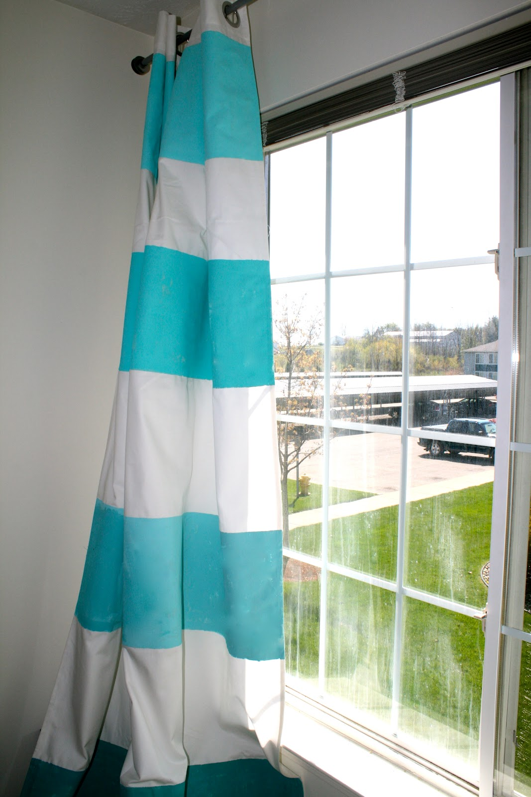 diy ombre striped curtains