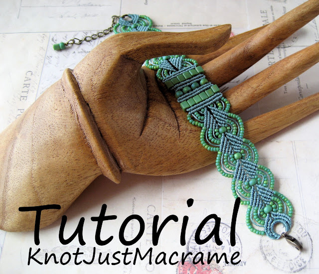 Micro macrame bracelet tutorial by Sherri Stokey of Knot Just Macrame
