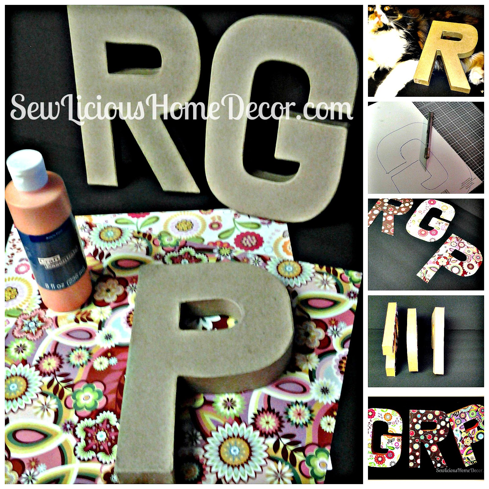 Scrapbook paper decor - No Need To Paint The Front Of The Letters Since You Will Be Covering Them With Scrapbook Paper