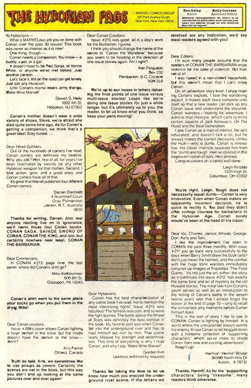 Conan the Barbarian (1970) Issue #219 #231 - English 25