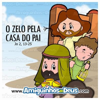 Jesus expulsa os vendedores desenho
