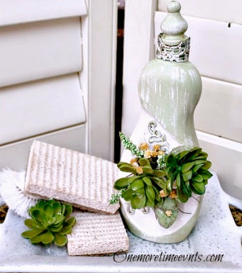 Decorative pieces for Kitchen with plastic dish soap bottle at One More Time Events.com