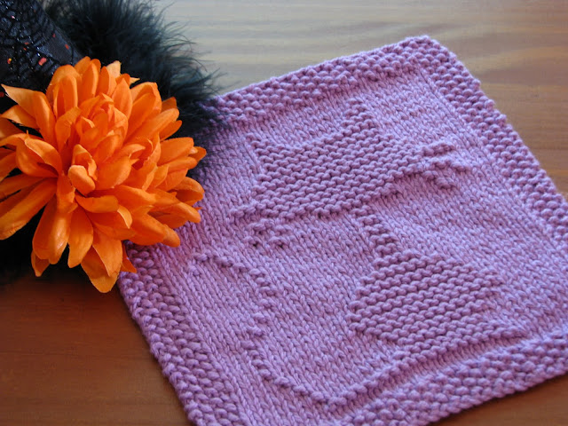 Free Knitting Pattern Butterfly Dishcloth : One Crafty Mama: Halloween Cat Dishcloth