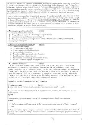 Examen de passage à la 2 ème année TSP