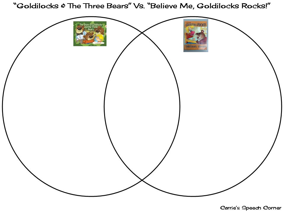 Speech Corner Book s of the Week Goldilocks and the Three Bears