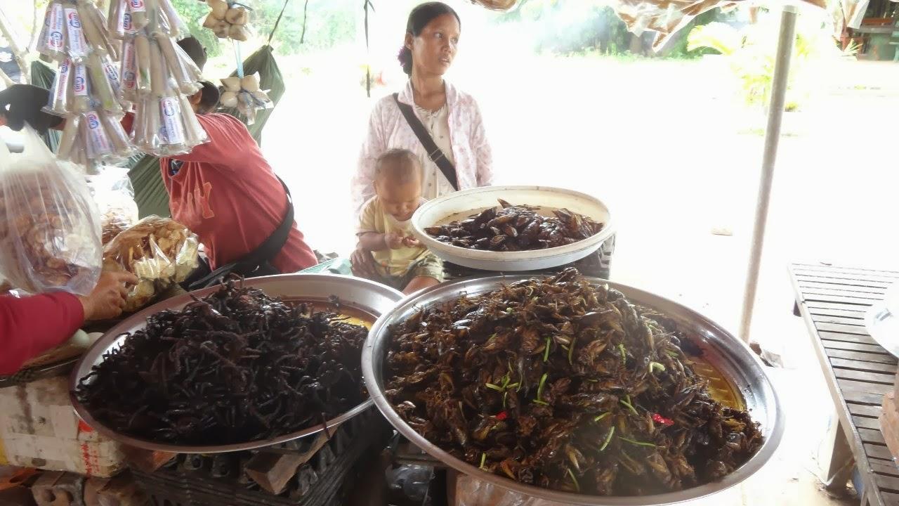Жареные Кузнечики, Пауки, Камбоджа