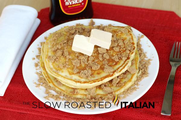 Cinnamon Streusel Pancakes , one word... YUM! Like a coffee cake and a ...