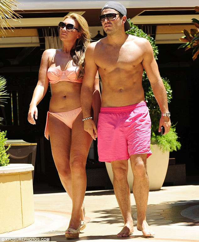 Justin Bieber Mark Wright And Lauren Goodger Put On A Show Of Unity Poolside In Las Vegas As She Reveals The Wedding S On Hold