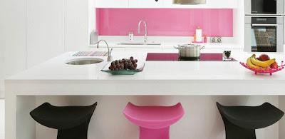 Desain Dapur Cantik Warna Pink | Sumber gambar : images.google.com