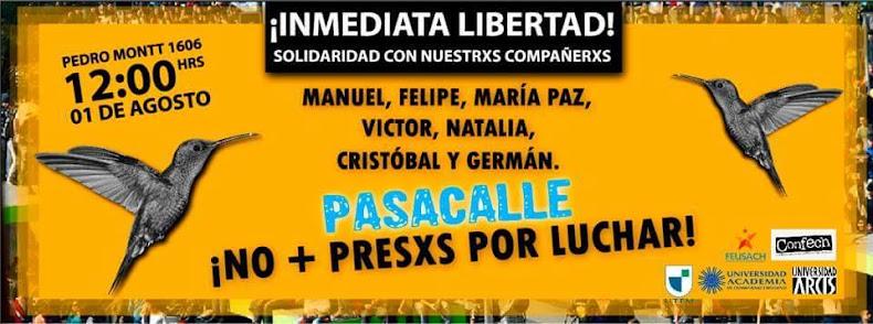 SANTIAGO CENTRO: NO + PRESOS POR LUCHAR, INMEDIATA LIBERTAD