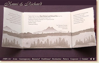 tahoe wedding invitation