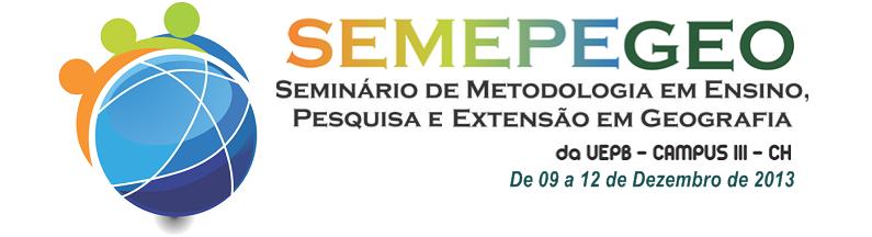 SEMEPEGEO 2013 - UEPB