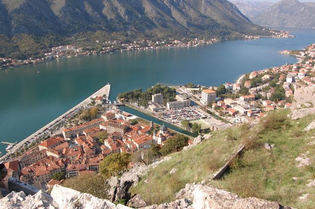 Вид на Котор с крепости Св. Иоанна