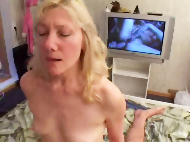 Mom & son having sex watching porn