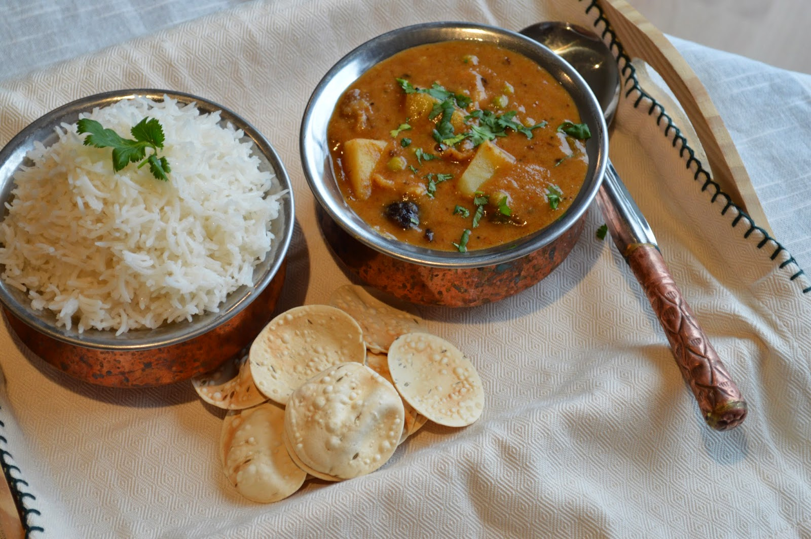 Sindhi kadi with Rice