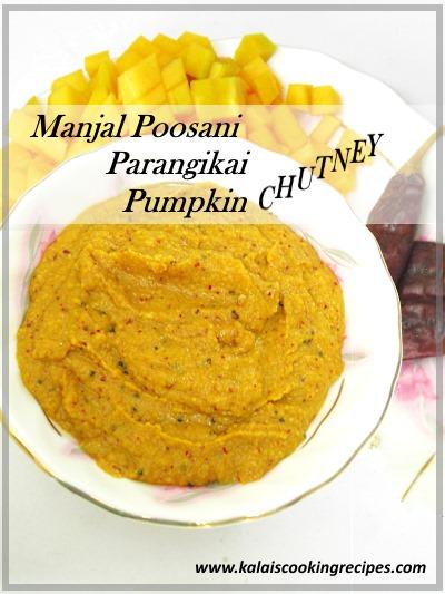 Manjal Poosanikai | Parangikai | Yellow Pumpkin Chutney