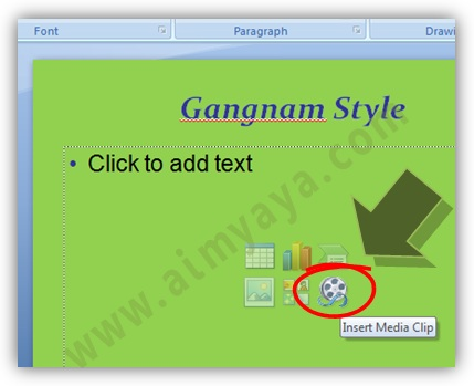 Gambar:  Cara Menambah video klip ke slide presentasi microsoft powerpoint