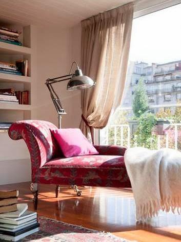 chaise longue rosa vivacious