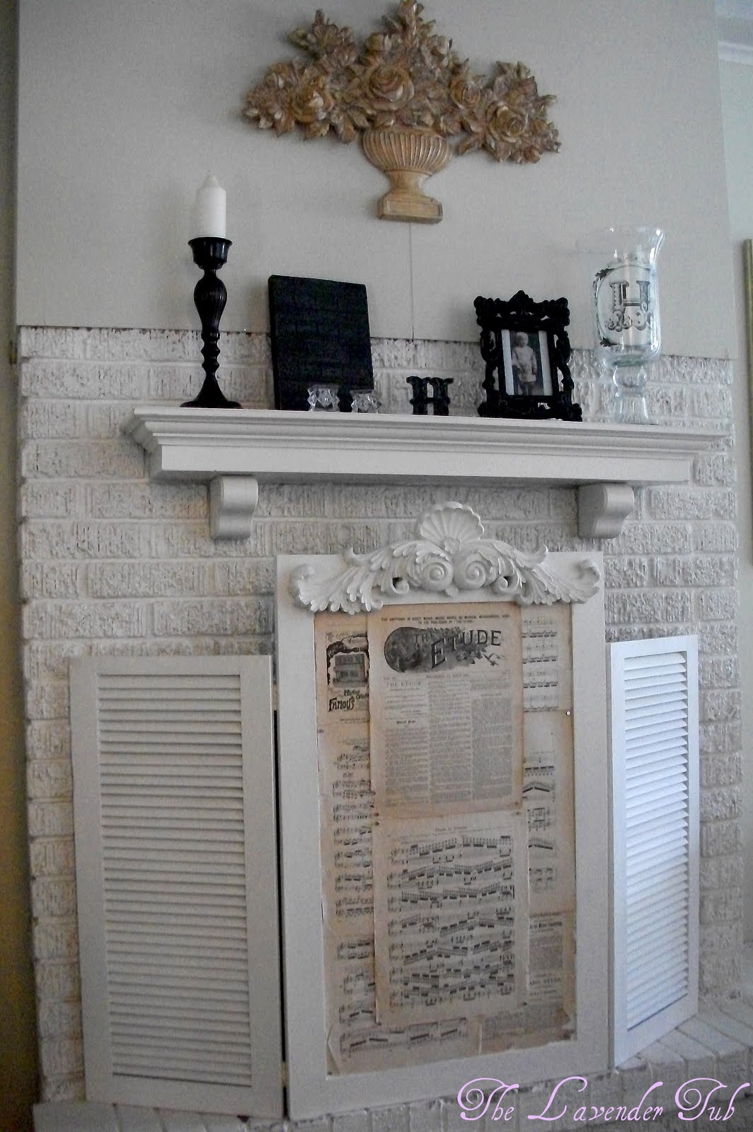 The Lavender Tub Classy Fireplace Screen
