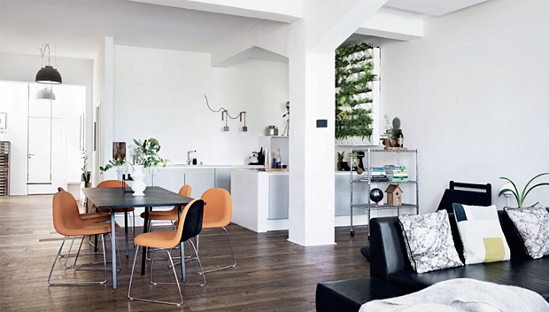 Beau Scandinavian Apartment In A New York Style