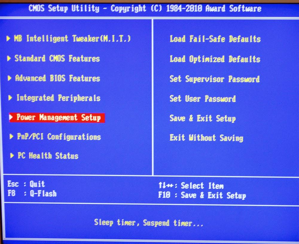 Автоматическое включение компьютера с помощью BIOS