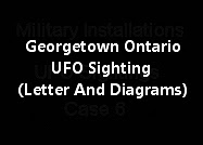 Georgetown Ontario UFO Sighting (Letter And Diagrams)