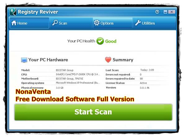 Free Download Registry Reviver 3.0.1.96 Full Version + Patch, Crack