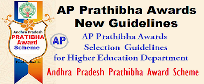 AP Prathibha Awards,Guidelines,Norms