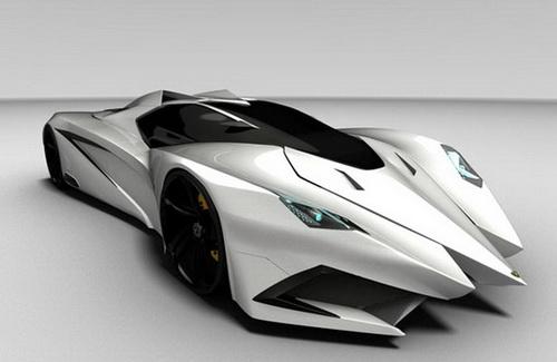 To Marks The Oncoming 50th Anniversary Of The Well Known Italian Sports Car  Brand Lamborghini In 2013, Mark Hostler Create A Futuristic Super Sports Car  ...