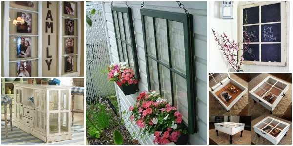 15 diy decorating ideas using old windows for home and for Outdoor decorating with old windows