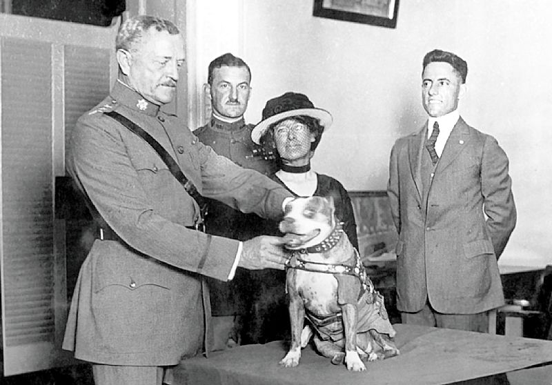 General-Pershing-presenting-medal-to-Stubby