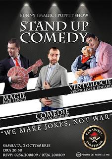 Stand-Up Comedy, Magie si Ventrilocie Sambata 3 Octombrie Timisoara