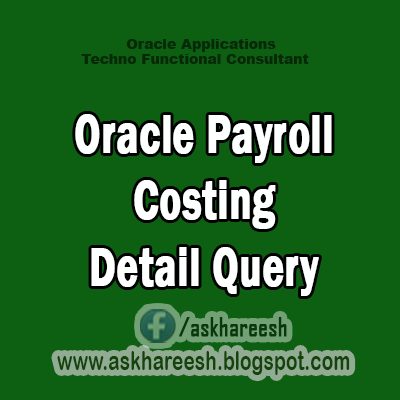 Oracle Payroll Costing Detail Query