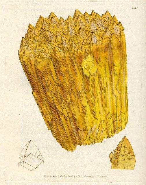 CALX carbonata; var. inversa. Inverse crystallized Carbonate of Lime. Plate no. 143