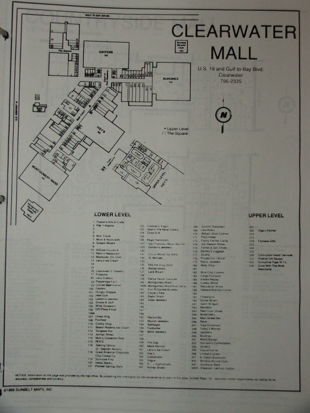 Sky City: Retail History: Clearwater Mall: Clearwater, FL