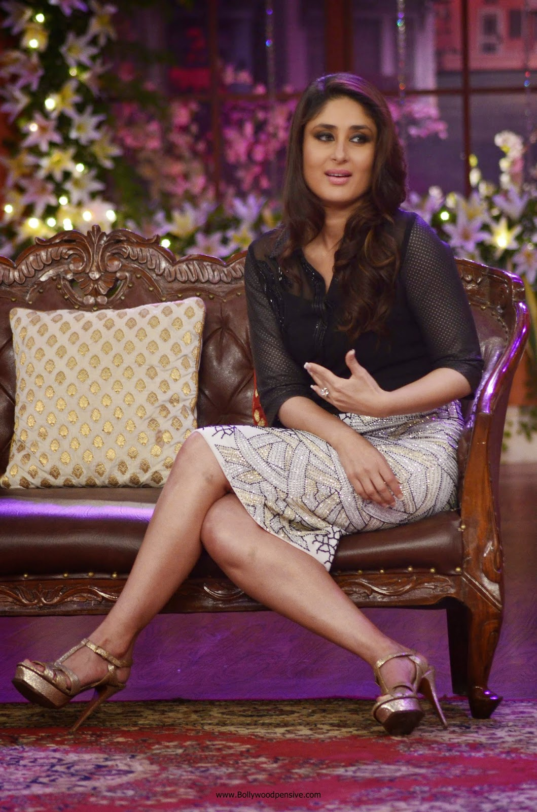 kareena kapoor promote singham returns on the sets of