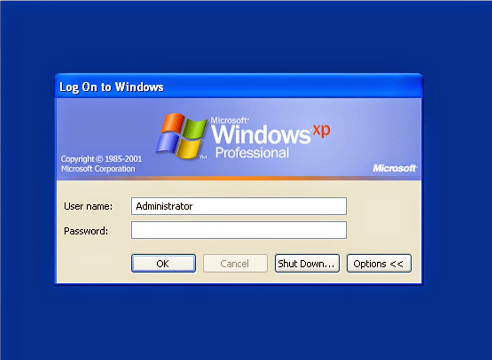 xp administrator account enable