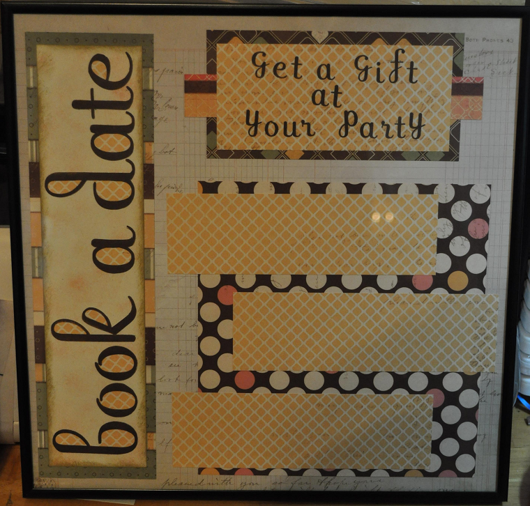 Scentsy Display Boards http://craftasticscrapping.blogspot.com/2011/07/booking-board.html