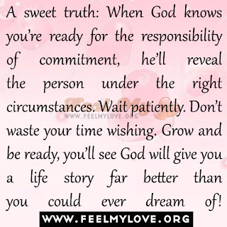 A sweet truth: When God knows you're ready