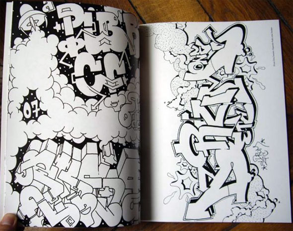 Graffiti Coloring Book Libro Graffitis Para Colorear Con