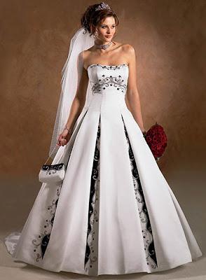 Vestidos de noiva com preto