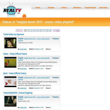 realtv com - müjdat demir 2017 - music video playlist