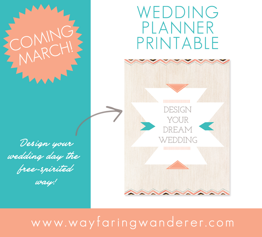 Design Your Dream Wedding Planner Printable Designed by Boone Photographer Wayfaring Wanderer