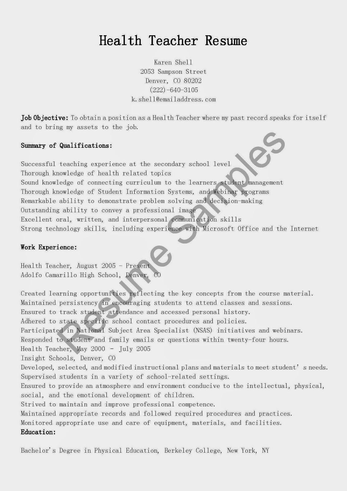 resume sles health resume sle